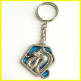 Silber überzogener Metalllegierungs-Drache Keychain