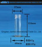 De hoge Kruik van het Glas van de Opslag van de Honing Hexgonal