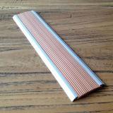 Antislip Nosing van de Trede van het Aluminium van het Tapijt Rubber Opgenomen