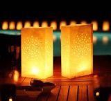 Libro blanco de la vela luminaria luz del té para la boda bolsa de Reino Unido