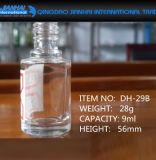 kundenspezifische 9ml Nagellack-kosmetische Glasflasche mit Schutzkappe