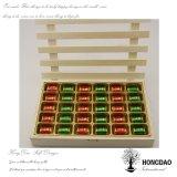 Caja de embalaje Wholesael_L del regalo de madera de encargo del caramelo de Hongdao