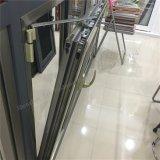 Puerta deslizante de aluminio ahorro de energía con gasa del acero inoxidable