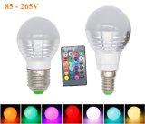 bulbo de 3W RGB Lampada LED