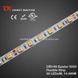 Alta striscia 6500k di alta densità LED di Istruzione Autodidattica Epistar 5050 dell'UL
