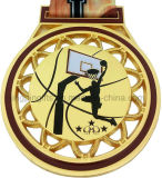 Basketball-Goldsilber-Bronzemedaillen für 1. 2. 3. Platz-Preise, Basketball-themenorientiertes Farbband