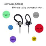 Fone de ouvido sem fio de Bluetooth do esporte com controle da voz