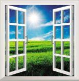 Openslaand raam van Galzed UPVC van de Prijs van de fabriek het Dubbele