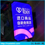 Pubblicità della casella chiara di succhiamento acrilica del segno del LED