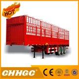 Koolstofstaal 3 Assen de Semi Aanhangwagen van de Vrachtwagen van de Omheining van 40 Ton met Gooseneck