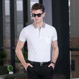 新しいデザイン無地の人は人のティーの上のための袖のポロシャツの細いワイシャツをショートさせる