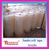 Roulis enorme de Glud de film de BOPP de bande adhésive matérielle acrylique à base d'eau d'emballage