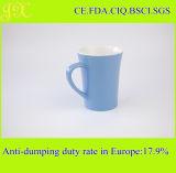 Glasig-glänzende keramische Kaffeetasse der Qualitäts-9oz Farbe