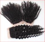 Chiusura del merletto con migliori capelli umani