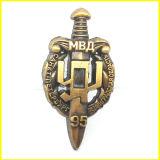 Pin russo del risvolto della spada placcato oro antico
