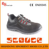Zapatos de seguridad de cuero de Nubuck con la punta de acero y la placa de acero