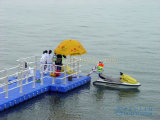 Raya vertical del precio para el embarcadero el pontón de flotación