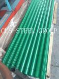 Feuille enduite enduite d'une première couche de peinture de toiture de plaque d'appui de fer ondulé/en métal de couleur