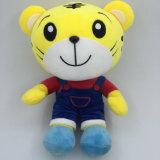 Les animaux de cadeaux de promotion ont bourré le jouet fait sur commande de peluche de tigre de jouet mou