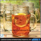 Glasflaschen-Maurer-Glas des Getränk300ml mit Griff (JH-20)