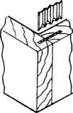 CF cuatro sujetadores acanalados para Furnituring
