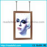 Caras dobles que hacen publicidad del rectángulo ligero del letrero delgado del LED
