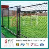 Conexión de cadena barata de la cerca barata revestida de la granja del PVC que cerca para el parque zoológico
