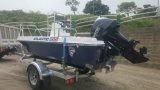 Barco de motor de /Rigid del barco de pesca de la fibra de vidrio de Aqualand 15feet los 4.6m (150)