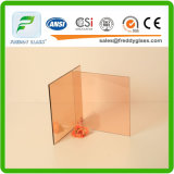 12 milímetros vidro reflexivo de bronze cor-de-rosa de vidro reflexivo colorido/edifício de vidro