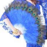 Ventilateur de danse de marabout de clavette de paon de danse de Madame ventre avec des barres