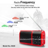 Altifalante com Flashlight/FM Radio (N520)