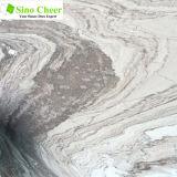 ラインパターン大理石、白い磨かれた平板のタイル