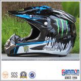 Koele Glanzende Blauwe Helm Motorcross met PUNT Graffiti (CR402)