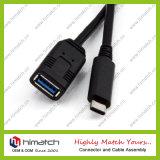 Type réversible d'USB 3.1 mâle de C au câble de caractéristiques femelle d'OTG