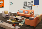 Sofa orange de tissu de modèle simple de couleur, sofa moderne (M619)