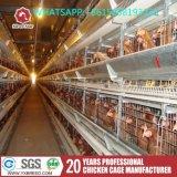 H datilografa gaiolas de bateria da galinha 4-Tier poedeira para o cultivo da galinha