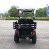 Carro de golf eléctrico de la caza de 4 pasajeros con la cesta