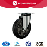 8 pouces de frein d'émerillon de faisceau de type en aluminium roue industrielle de l'Europe en caoutchouc de chasse