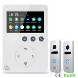メモリ戸口の呼び鈴のホームセキュリティービデオ4.3インチの通話装置のDoorphone