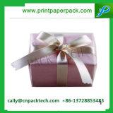 Коробка подарка привлекательного картона рождества Bowknot упаковывая