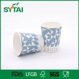 Kundenspezifisches Firmenzeichen gedruckte Isolierwegwerf nehmen einzelne Wand-Papiercup weg