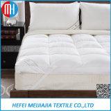 De alta qualidade 100% algodão Goose / Duck Down Plumas Mattress Topper / Protector para Home Textile