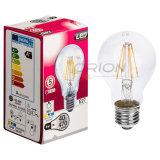 Ampoule de filament de l'ampoule 4W 6W 8W E27 A60 DEL du filament DEL
