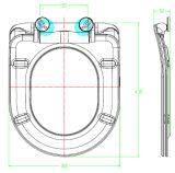 D-Form-Harnstoff-schnelle Freigabe-Arbeitskarte-Toiletten-Deckel
