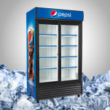 Refrigerador de vidro comercial do especialista das técnicas mercantís da porta