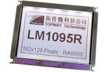 도표 LCD 모듈 (LM1095E)가 192X128에 의하여 점을 찍는다