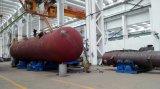 Forro de tanque químico do armazenamento de ASME com vidro do PE, borracha com válvulas e o calibre nivelado