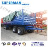 Transporte utilitario de 4 árboles que tira del acoplado lleno del cargo del carro