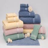 Fabulosamente jacquard de algodón Diseño de toallas Terry Set (DPFT8078)