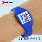 Wristband personalizzato senza contatto del silicone del chip di RFID NFC